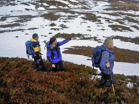 Alan, Kevin and Clare on Geal Charn